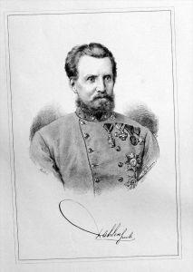Hermann Freiherr Dahlen von Orlaburg Original Lithographie Portrait