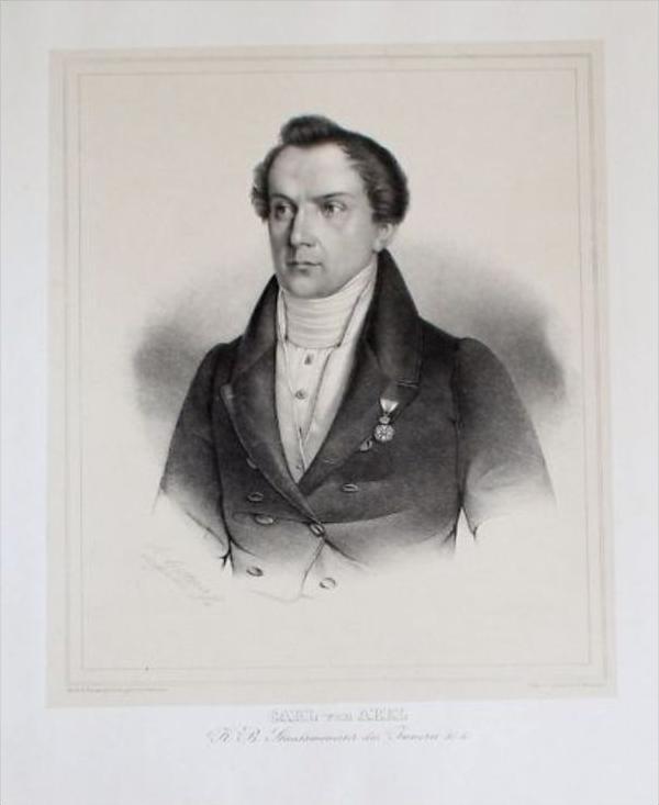Karl von Abel Politiker Lithographie Portrait