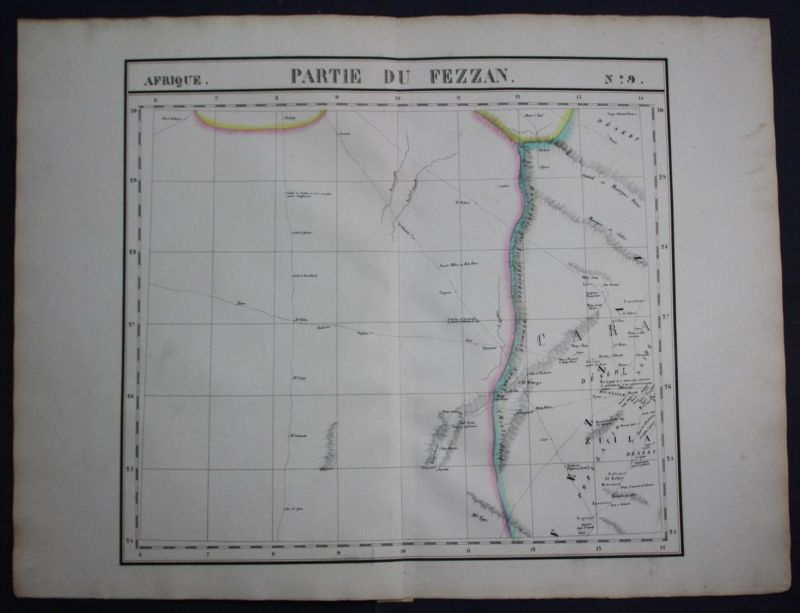Fezzan desert Libya Libyen North Africa Afrika map Karte Vandermaelen litho