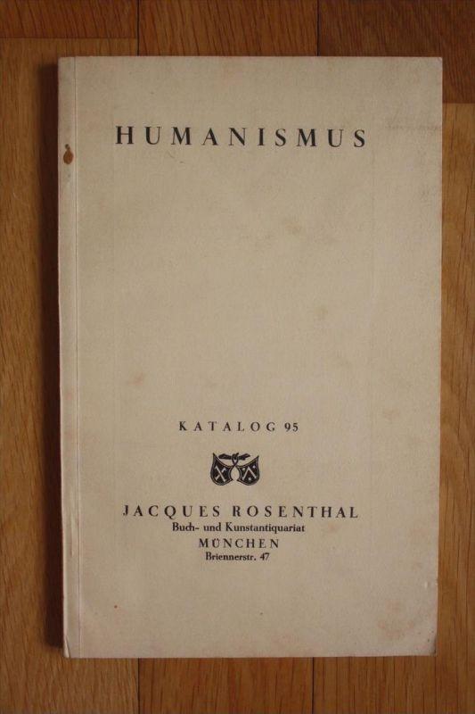 Humanismus Jacques Rosenthal Antiquariatskatalog Antiquariat Katalog