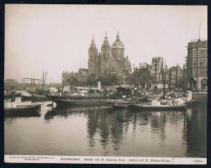 Amsterdam Sint Nicolaaskerk Original Foto photo vintage