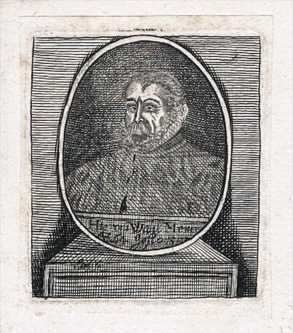 Hieronymus Wahl Merkel Kupferstich Portrait engraving