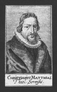 Christian Matthias Theologe Rektor Meldorf Durlach Kupferstich Portrait
