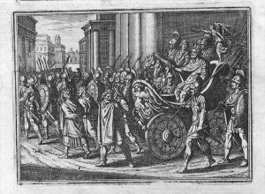 Einzug des Kaisers Triumphzug Kupferstich Merian engraving