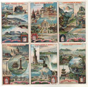 Sanguinetti 403 Viaggio intorno al Mondo italienisch Lithographie Liebig