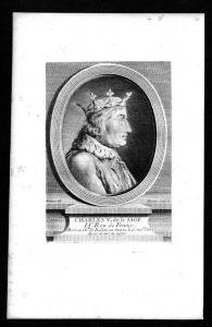 Karl V der Weise König Frankreich France Valois Kupferstich Portrait