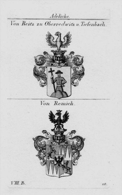 Reitz Remich Wappen Adel coat of arms heraldry Heraldik Kupferstich