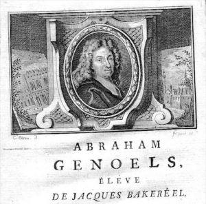Abraham Genoels painter Maler Portrait Kupferstich gravure engraving