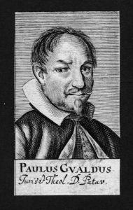 Paulus Gualdus Jurist lawyer Professor Italien Italy Kupferstich Portrait