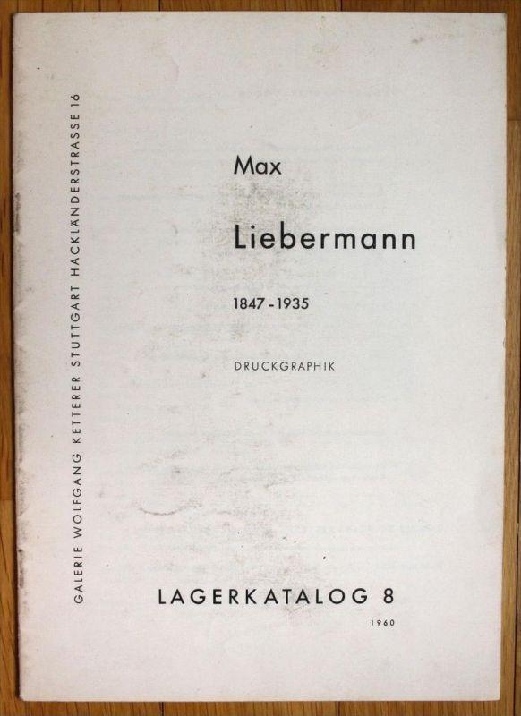 Max Liebermann Druckgraphik Katalog Galerie Wolfgang Ketterer