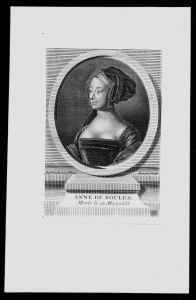 Anne Boleyn Marquess of Pembroke Frau Heinrich VIII Kupferstich Portrait
