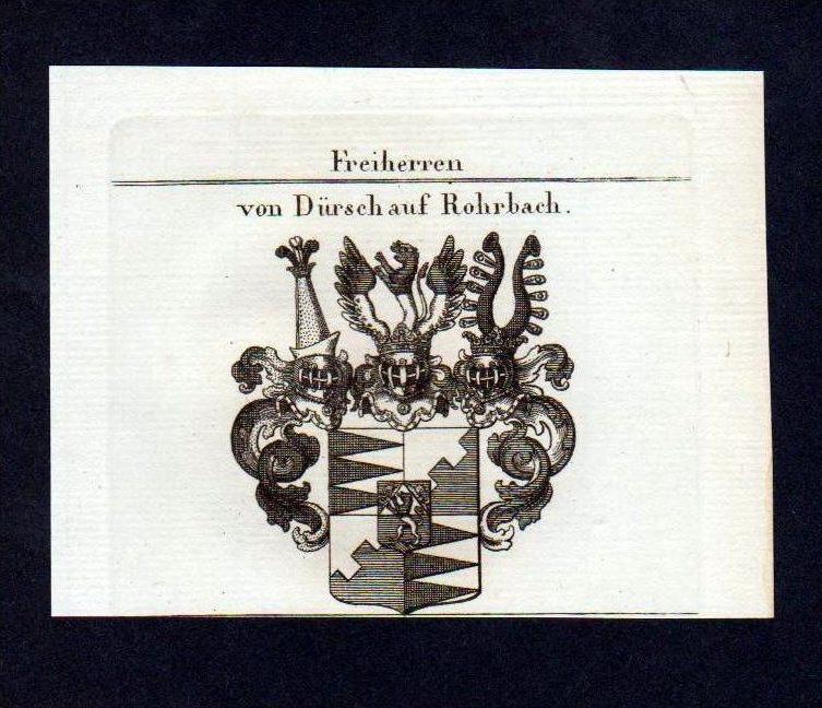 Freiherren von Dürsch Rohrbach Kupferstich Wappen Heraldik coat of arms