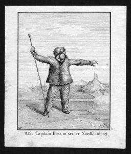 John Ross Arcitc explorer Lithographie Lithograph