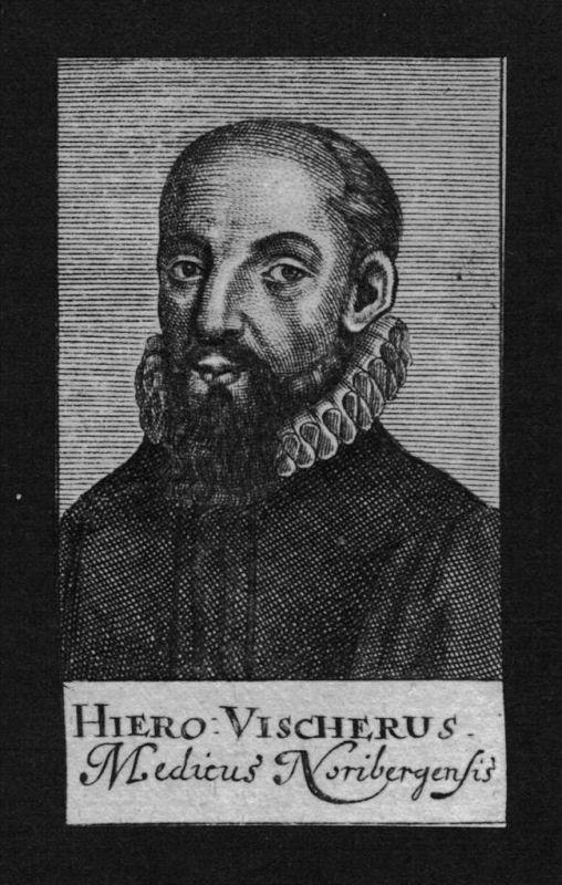 Hieronymus Vischer Arzt doctor Professor Nürnberg Kupferstich Portrait