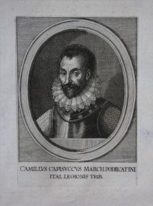 Camillo Raimondo Capizucchi Portrait Kupferstich acquaforte engraving