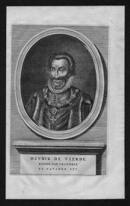 Heinrich IV Frankreich Henri France Roi König Portrait Kupferstich