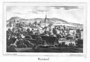 Bertsdorf-Hörnitz Görlitz Oberlausitz Lithographie litho lithograph