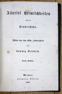 Stiebritz Allerlei Heimlichkeiten aus der Kinderstube Kinderbuch Kinder