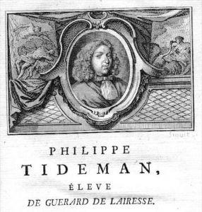 Philip Tideman painter Maler Portrait Kupferstich gravure engraving