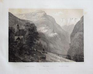 - Pass Lueg Salzach Alpen Salzburg Original Lithographie Litho