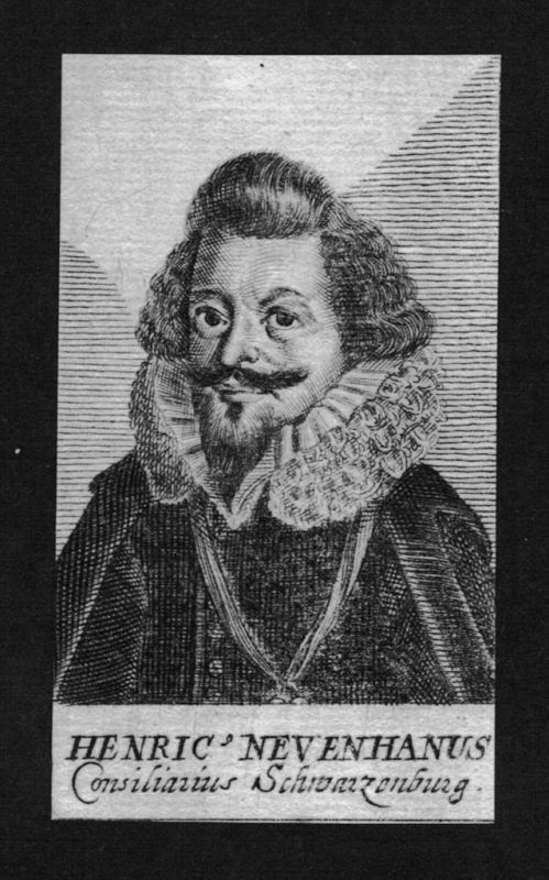 Henrik Neuenhaus Jurist lawyer Schwarzenburg Kupferstich Portrait