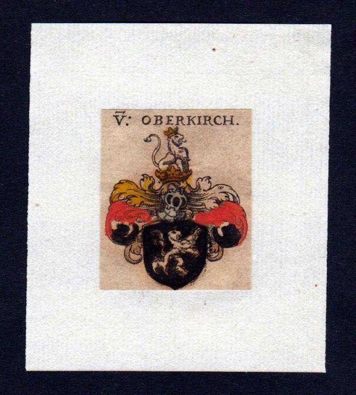 17. Jh von Oberkirch Wappen coat of arms heraldry Heraldik Kupferstich
