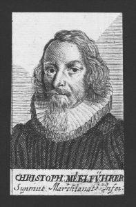 Christoph Meelführer Theologe Pfarrer Kulmbach Kupferstich Portrait