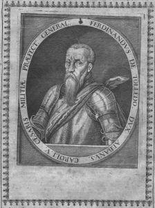 Fernando Alvarez de Toledo Alba Portrait Kupferstich engraving