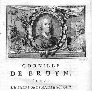 Cornelis de Bruijn painter Maler Portrait Kupferstich gravure engraving