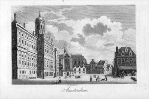 Amsterdam Holland Nederland Original Kupferstich gravure