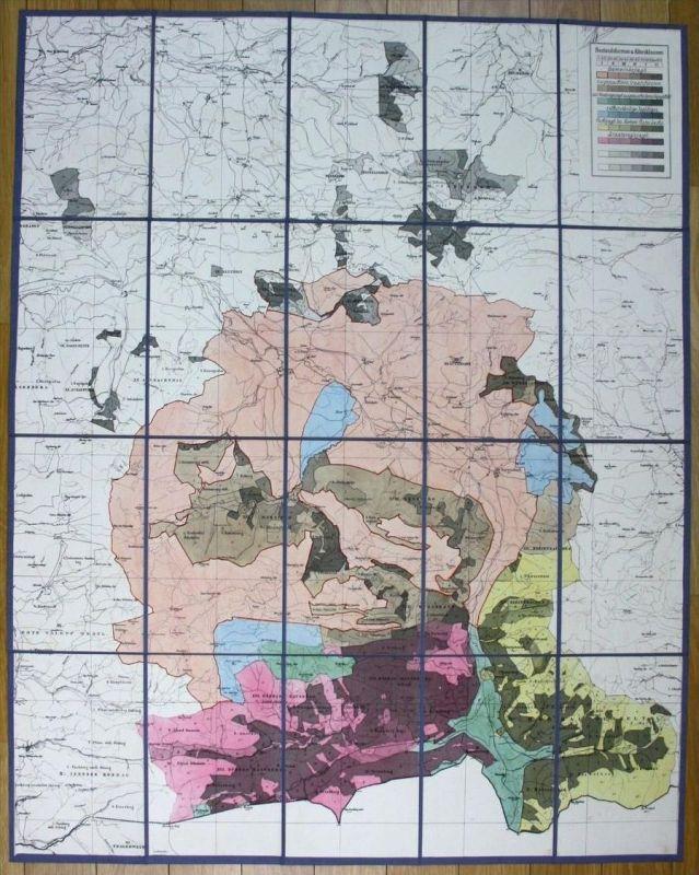 um 1880 Fischbachau Jagd Forst Karte Jagdkarte Bayrischzell Bayern