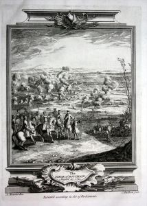 Siege de Bouchain 1711 Belagerung gravure Kupferstich map