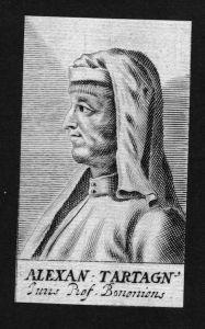 Alexander Tartagnus Jurist lawyer Italien Italy Kupferstich Portrait