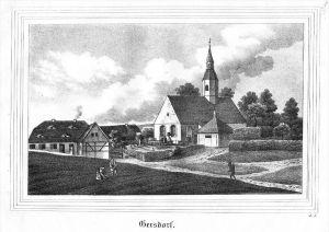 Gersdorf Markersdorf Oberlausitz Görlitz Lithographie lithograph