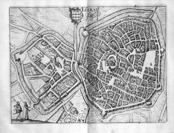 Arras Nord-Pas-de-Calais gravure estampe