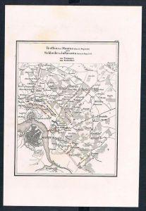 Mantua Italien Italia Schlacht battle Karte map incisione Stahlstich
