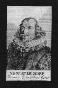 Georg Paulus Imhoff Jurist lawyer Nürnberg Kupferstich Portrait
