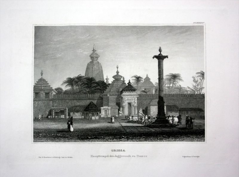Odisha Orissa Pooree Indien India Asien Asia engraving Stahlstich