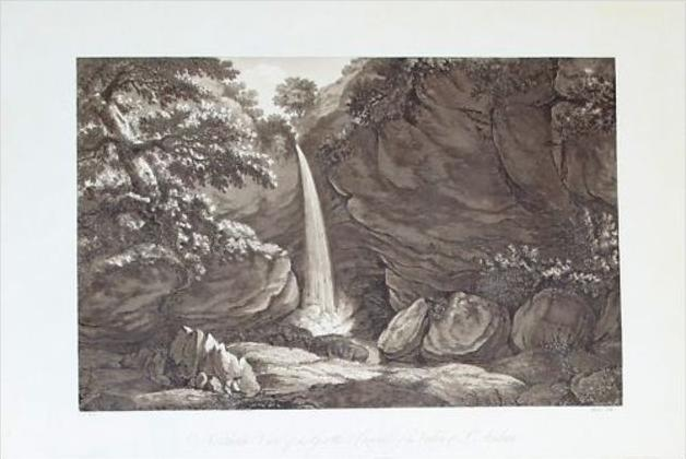 Valley of St. Andrea Nice aquatinte aquatinta gravure aquatint