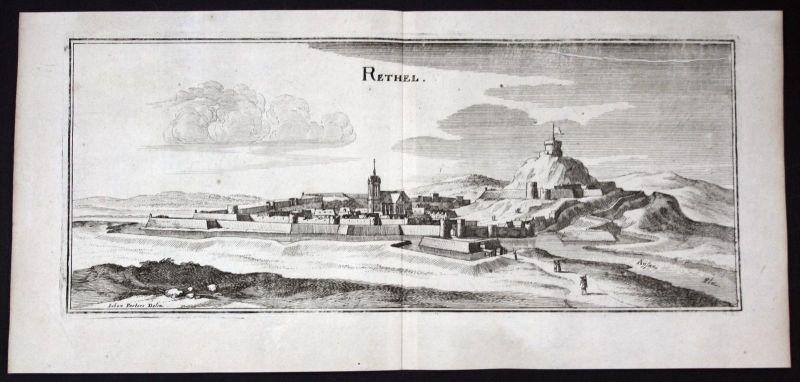 Rethel Ardennes gravure estampe Kupferstich Merian engraving