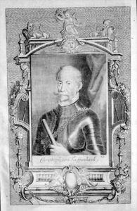 Christoph Freiherr Tiefenbach-Mayrhofen Portrait Kupferstich engraving