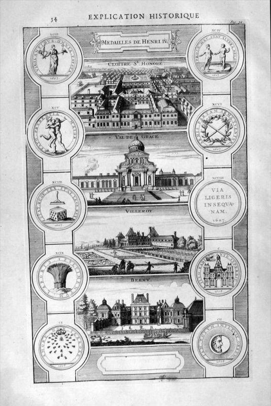 Paris Val-de-Grace Villeroy Berny gravure engraving