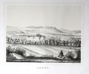Lauba Lawalde Oberlausitz LK Görlitz Poenicke Lithographie Litho