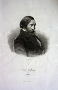 Otto Ludwig Schriftsteller writer Eisleben Dresden Stahlstich Portrait