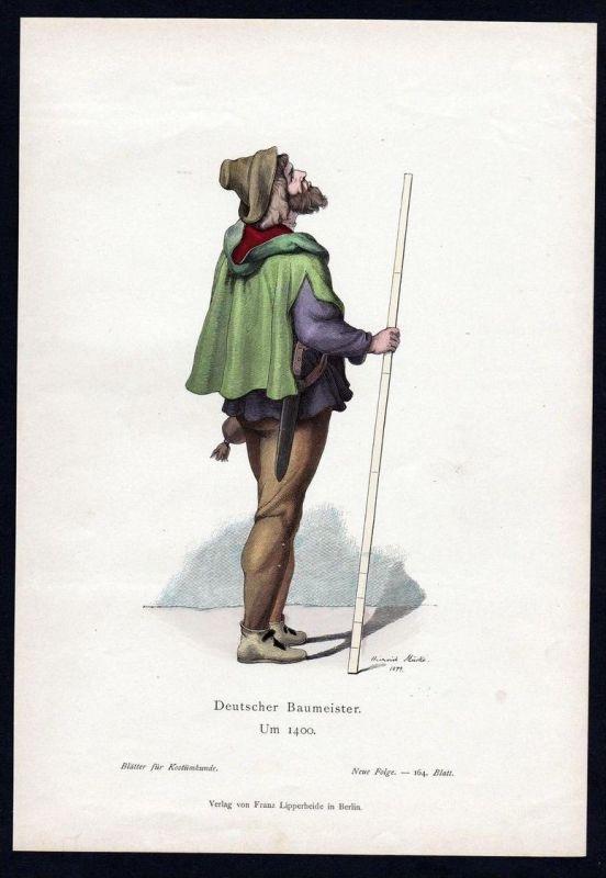 Deutschland Baumeister Bau Meister Trachten Tracht costume original Grafik