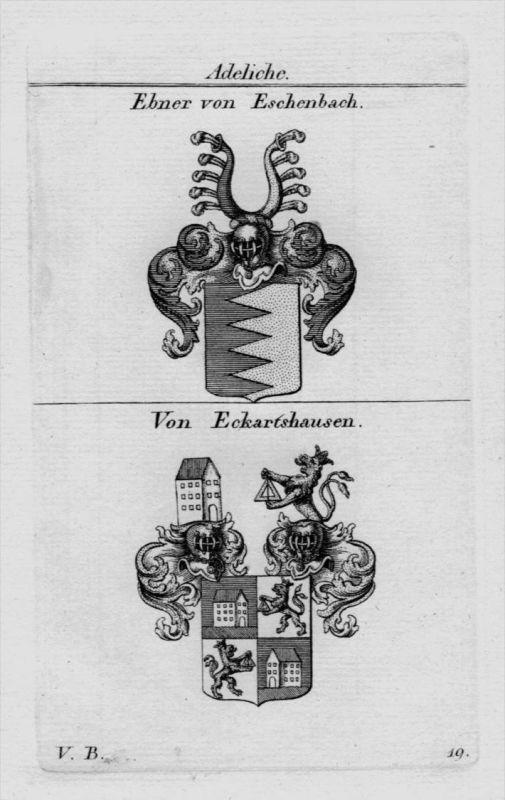 Ebner Eschenbach Eckartshausen Wappen coat of arms heraldry Kupferstich