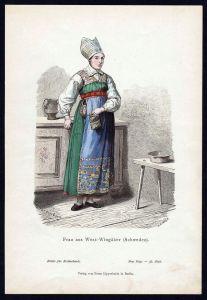 Vingaker Schweden Frau Sweden Trachten Tracht costume original Grafik