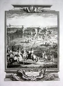 Siege de Douai 1710 Belagerung gravure Kupferstich map