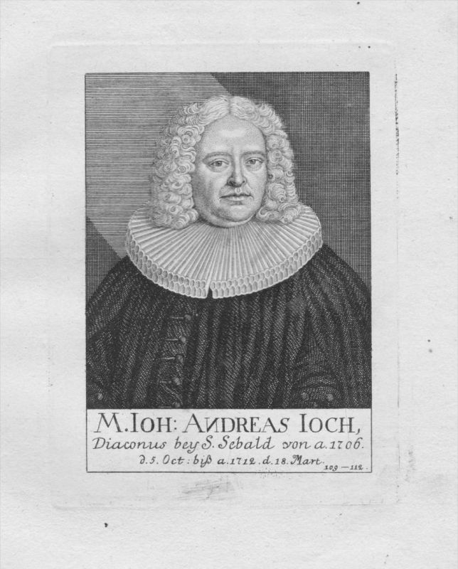 h. Johann Andreas Joch Diakon St. Sebald Sebalduskirche Nürnberg Portrait