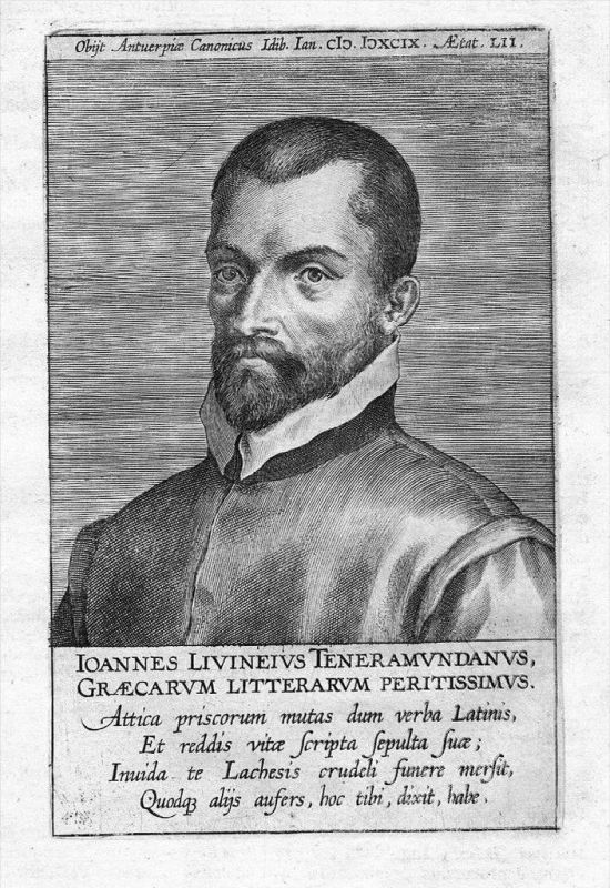 Jan Livineus theologian Theologe Portrait Kupferstich gravure